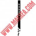 Sticker Bandeau Damier avec prénom