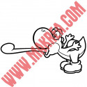 Sticker Mario Bros - Yoshi tire la langue