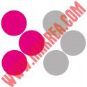 Sticker lot 6 Bulles 23,5cm - 2 couleurs au choix
