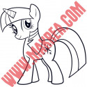 Sticker My Little Pony - Twilight Sparkle