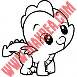 Sticker My Little Pony - Spike le Dragon