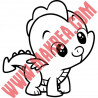 Sticker My Little Pony - Spike le Dragon