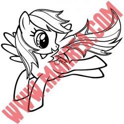Sticker My Little Pony - Rainbow Dash