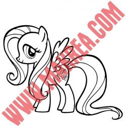 Sticker My Little Pony - Fluttershy