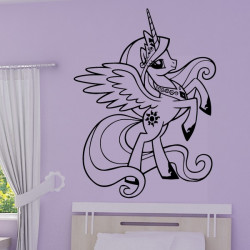 Sticker My Little Pony - Princesse Célestia