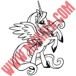 Sticker My Little Pony - Princesse Célestia