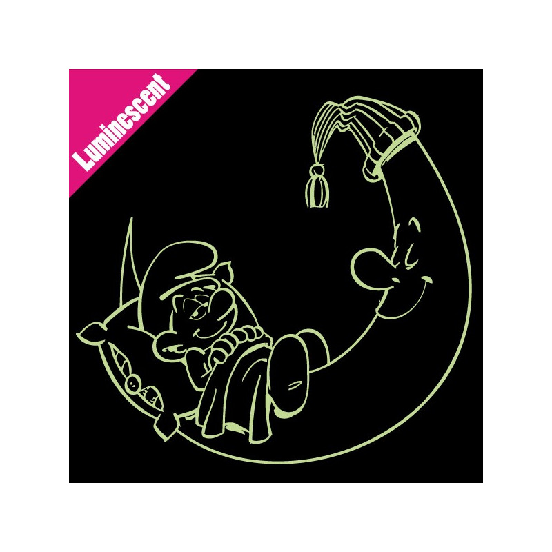 Sticker Luminescent Schtroumpf sur la lune