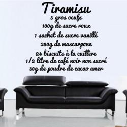 Recette Tiramisu