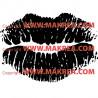 Sticker Bouche Empreinte Lèvres