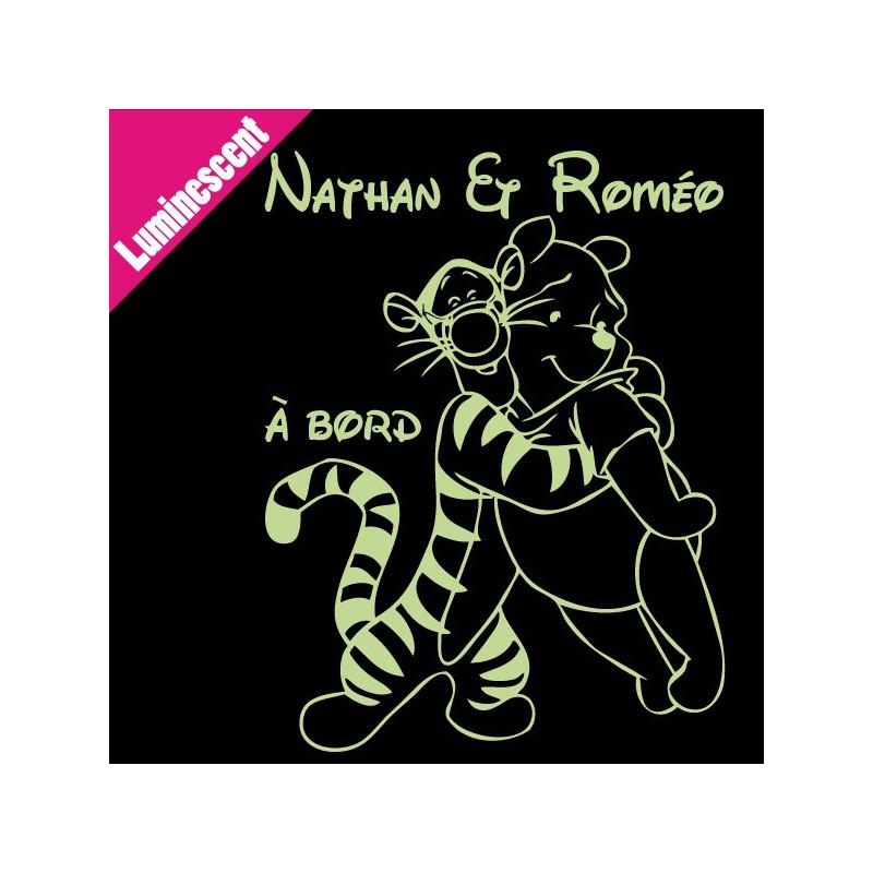 Sticker Luminescent Winnie et Tigrou Calin