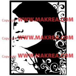 Sticker Portrait Jeune fille Deisgn