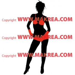 Sticker Femme sexy maillot de bain - Bi-Colors