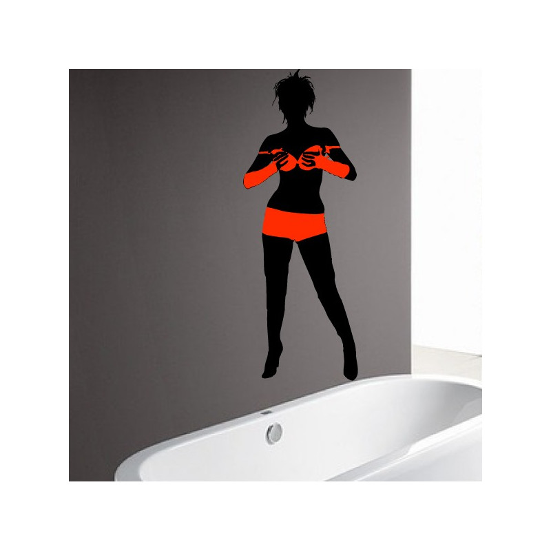Sticker Femme sexy maillot de bain - Bi-Colors 2