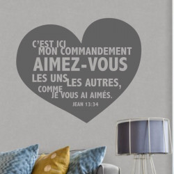 Coeur Jean 13:34 C'est ici mon commandement aimez-vous les uns les autres...