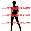 Sticker Femme sexy maillot de bain - Bi-Colors 5