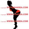 Sticker Femme sexy maillot de bain - Bi-Colors 6