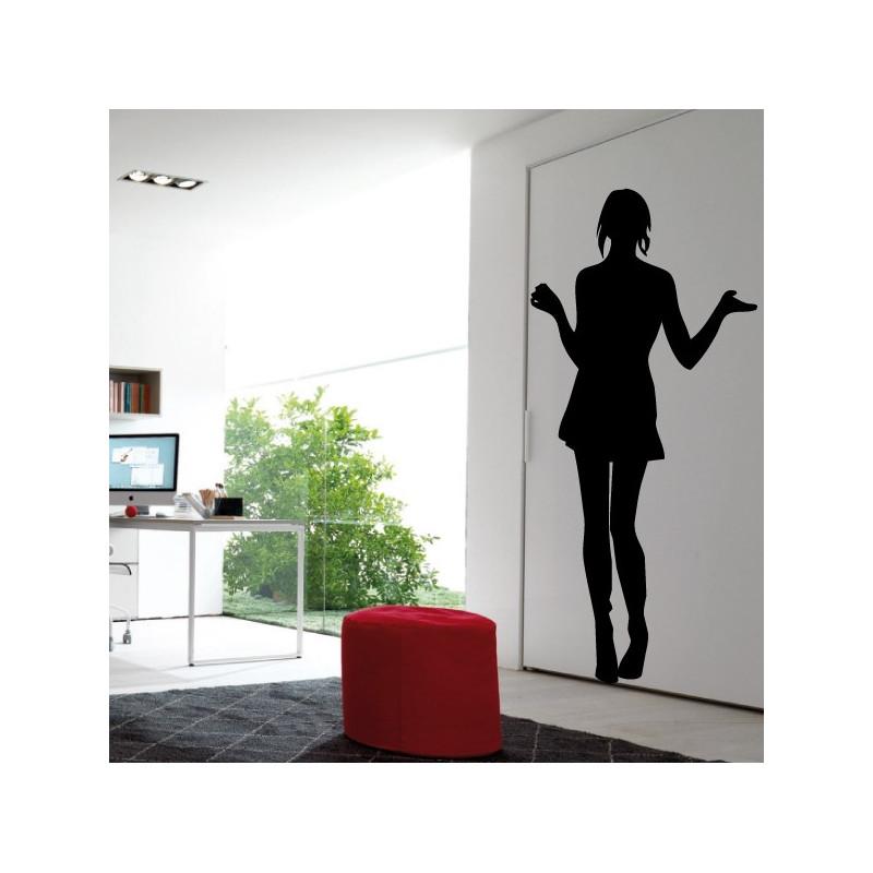 Sticker Silhouette Femme Debout