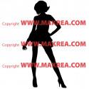 Sticker Silhouette Femme Debout 2
