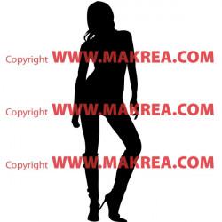 Sticker Silhouette Femme Debout 3
