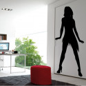 Sticker Silhouette Femme Danseuse