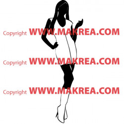 Sticker Silhouette Femme Debout 4