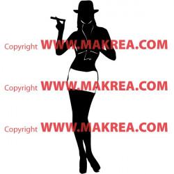 Sticker Silhouette Femme Debout 5