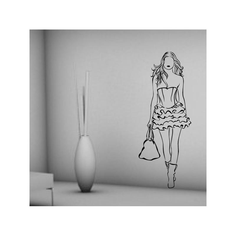 Sticker Silhouette Femme Fashion