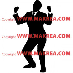 Sticker Silhouette Business Man Heureux
