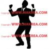 Sticker Silhouette Business Man Heureux