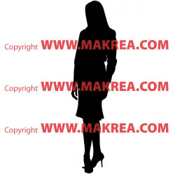 Sticker Silhouette Business Women