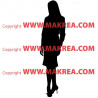 Sticker Silhouette Business Women