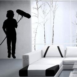 Sticker Silhouette Preneur de son Cinéma
