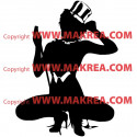 Sticker Femme sexy Danseuse Cabaret