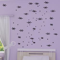 Sticker Pluie d'étoiles