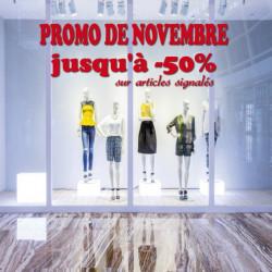 vitrine Promo de novembre jusqu'à -50%