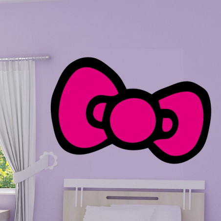 Noeud Hello Kitty 2 couleurs