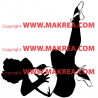 Sticker Femme sexy Danseuse 2