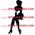 Sticker Pin-Up assise