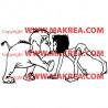 Sticker Livre de la Jungle - Mowgli et Junior Bisous