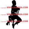 Sticker Femme Nue sur Chaise SM