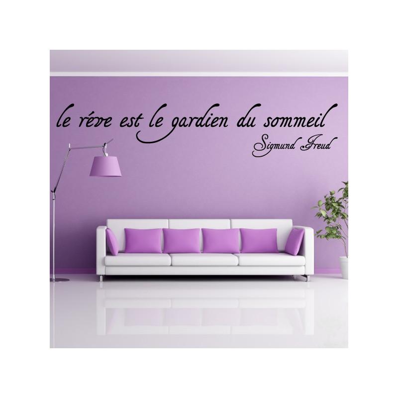 Sticker texte : Le rêve est le gardien du sommeil - Sigmund Freud