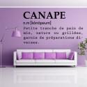 Sticker Définition : Canapé