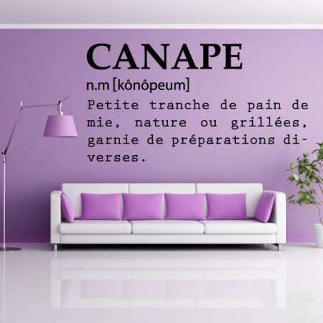 Définition : Canapé
