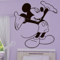 Sticker Mickey Heureux Bras en l'air