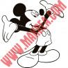 Sticker Mickey Heureux Bras en l'air