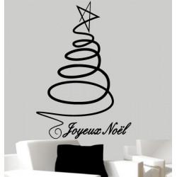 Sticker Noël - Joyeux Noël et Sapin Design
