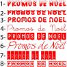 Sticker vitrine Promos de Noël