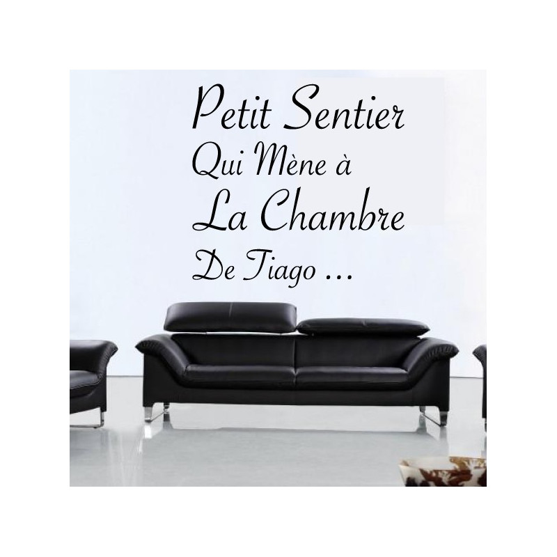 Sticker Texte : Petit Sentir qui mène ...