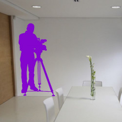 Sticker Cameraman Cinéma 2
