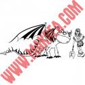 Sticker Dragons - Tempête et Astrid